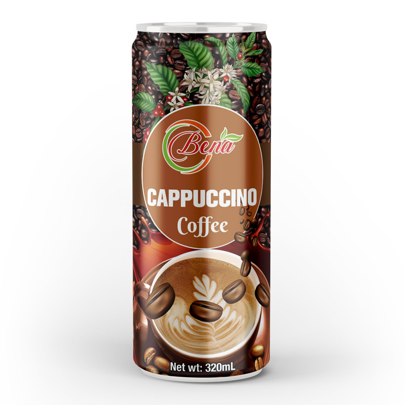 320ml canned slim cappuccino coffee drink