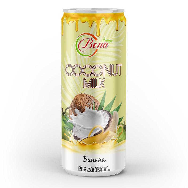 natural coconut milk banana drink 320ml cans