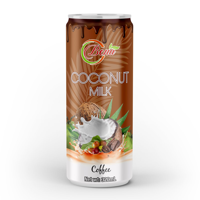 natural coconut milk with coffee drink in 320ml cans