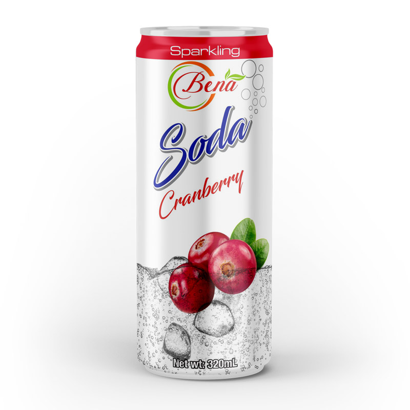 320ml cans soda drink with cranberry flavor