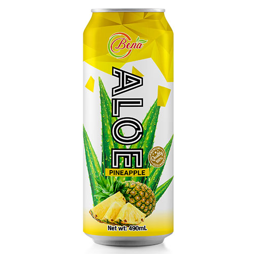 natural aloe vera pineapple juice drink