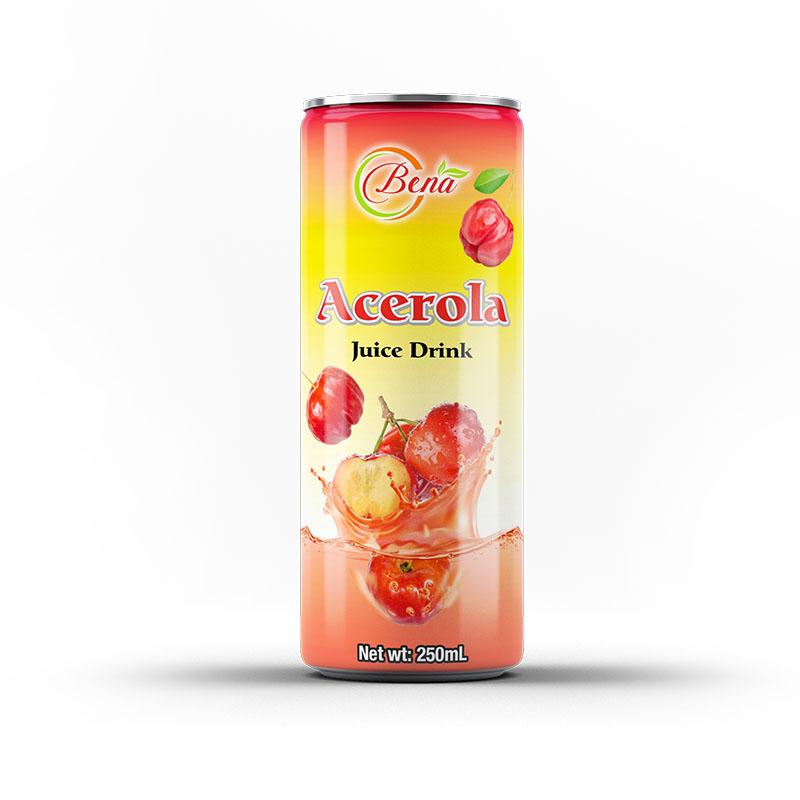 canned acerola juice drink